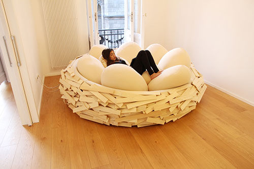 Comfortabel loungebed 'Nest'