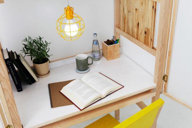 Compacte bureau-kast combinatie