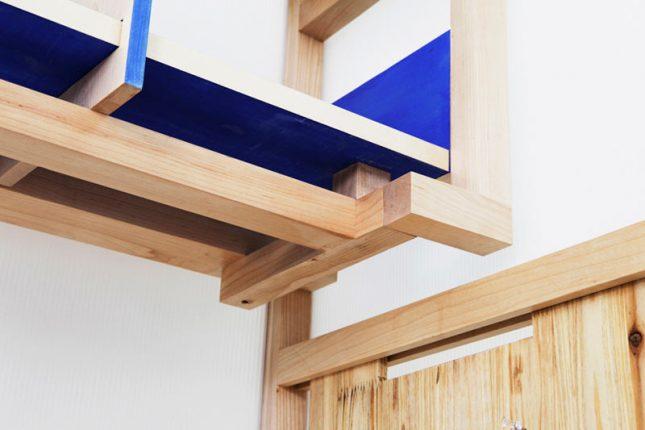 Compacte bureau kast combinatie interieur inrichting