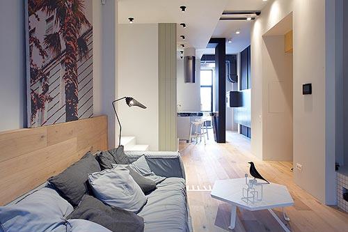 Compacte woonkamer inrichting