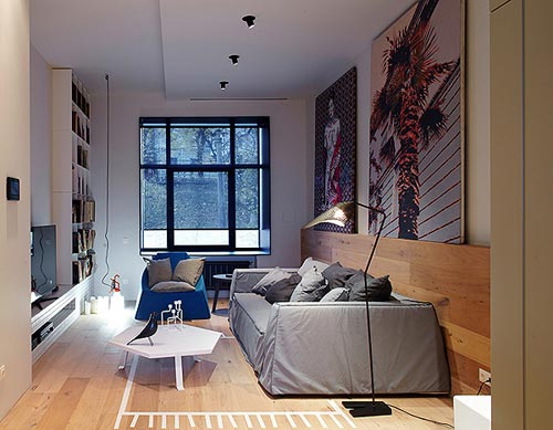 speelse moderne woonkamer met underlayment  interieur inrichting, Meubels Ideeën