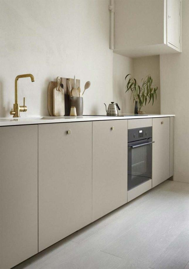 corian werkblad beige keuken