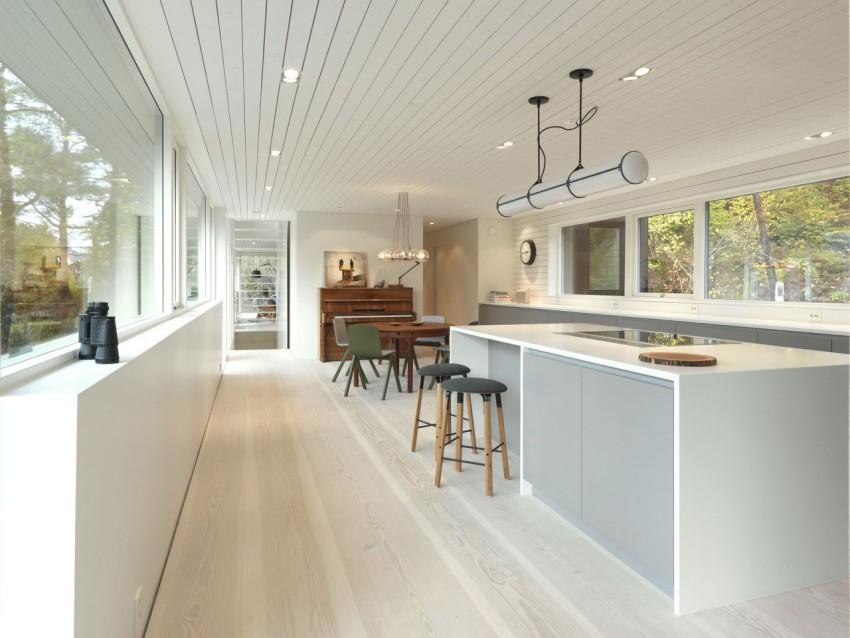 Cosy woonkamer met natuurlijk uitzicht