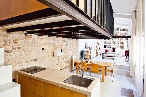 Creatief studio verbouwd tot kleine loft