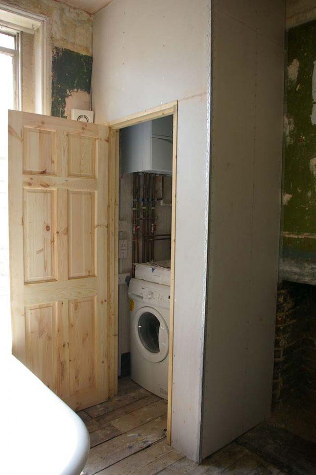 cv ketel wegwerken badkamer
