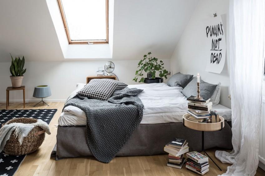 Dakraam in slaapkamer