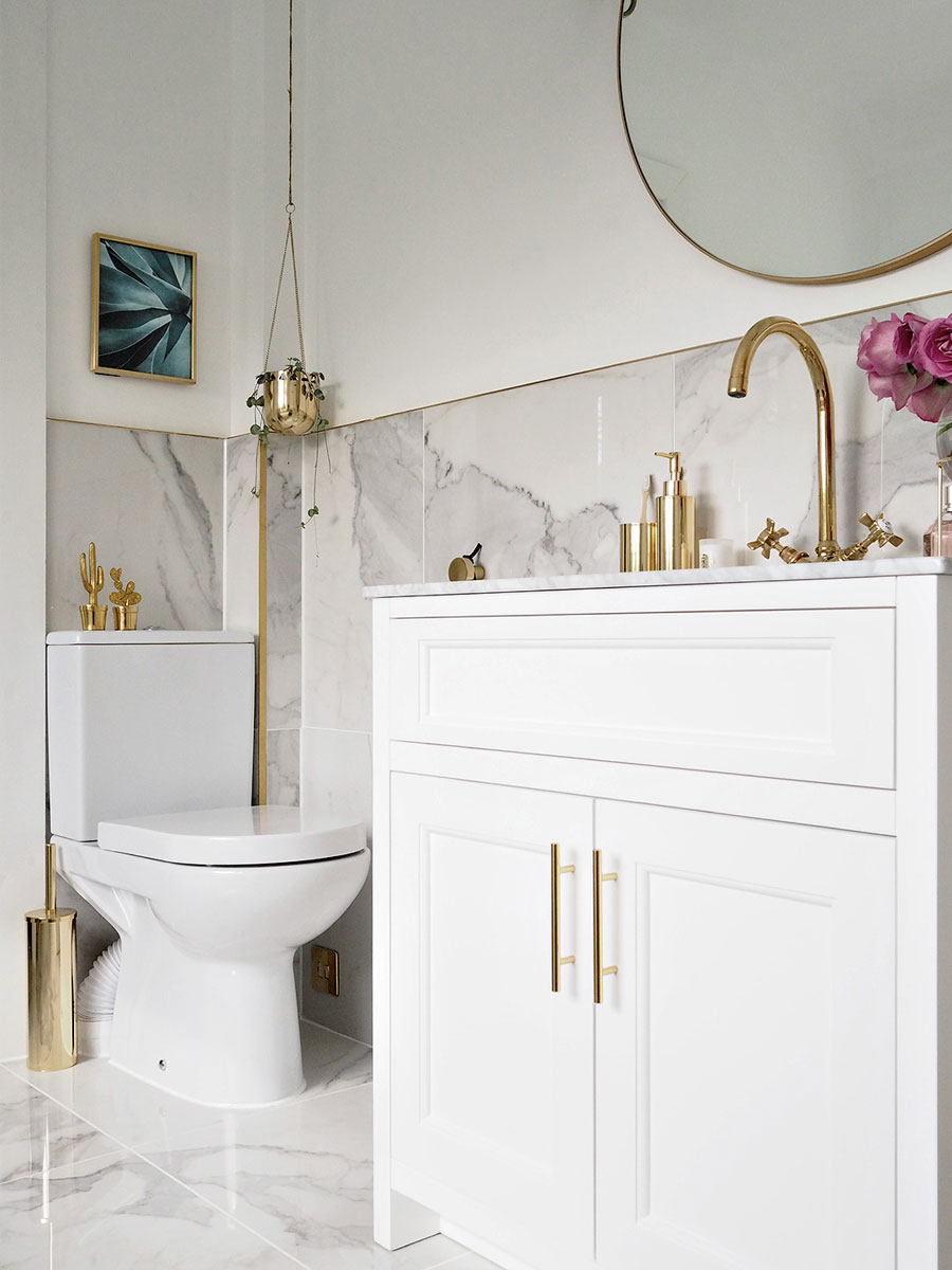De luxe chique badkamer van Olivia
