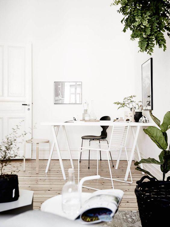 Werkplek in huis