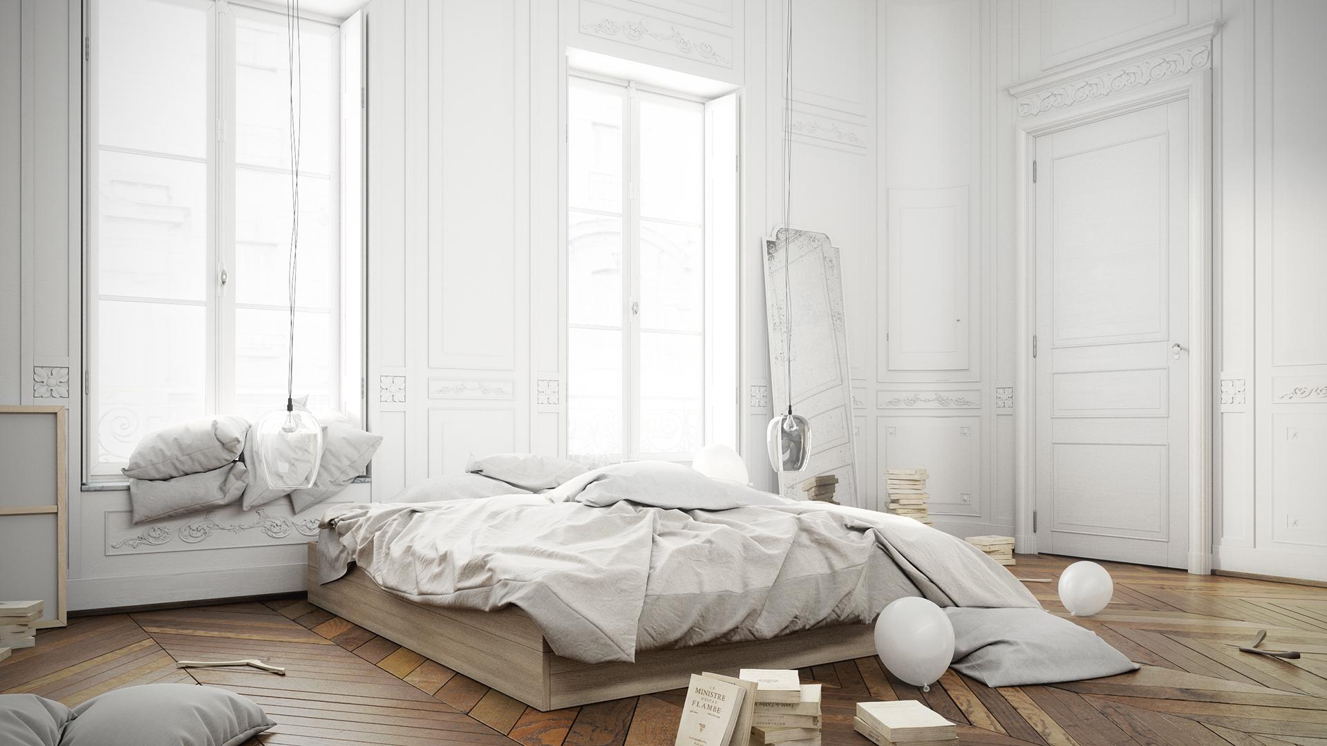 De ruimte van deze slaapkamer is zó mooi! | Interieur inrichting