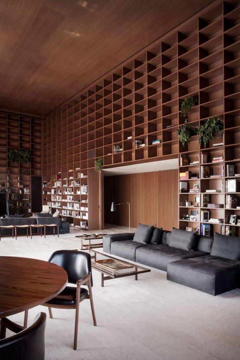De ultieme bibliotheek woonkamer interieur inrichting - Interieur bibliotheek ...