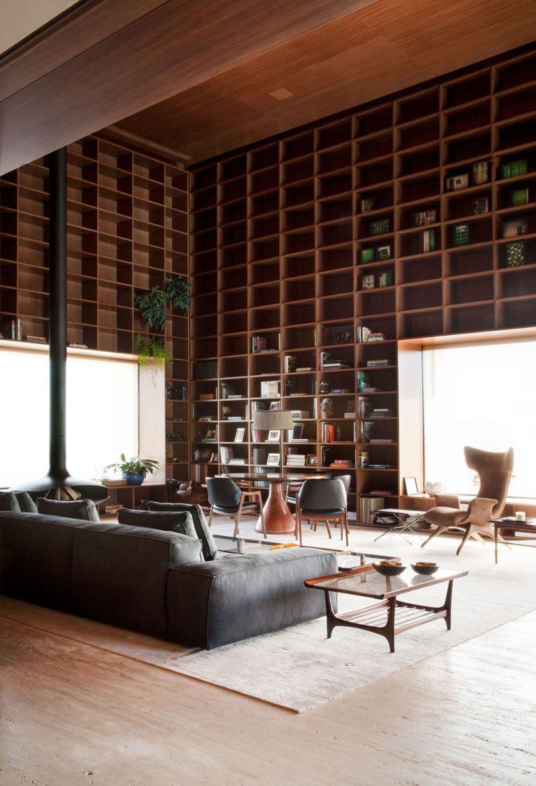 De ultieme bibliotheek woonkamer interieur inrichting - Woonkamer design bibliotheek ...