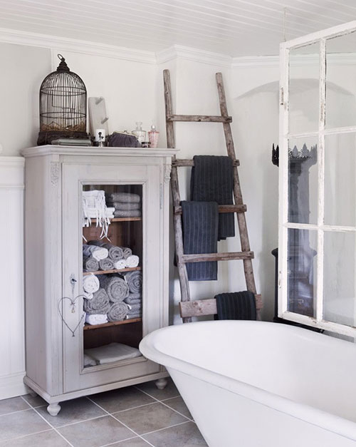 10x decoratie ladder interieur inrichting - Interieur decoratie badkamer ...
