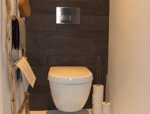 Decoratieladder in toilet