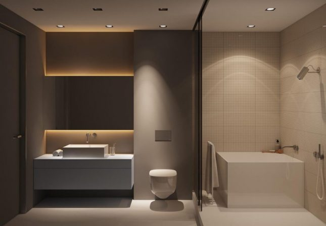 Design badkamers voorbeelden luxe warm