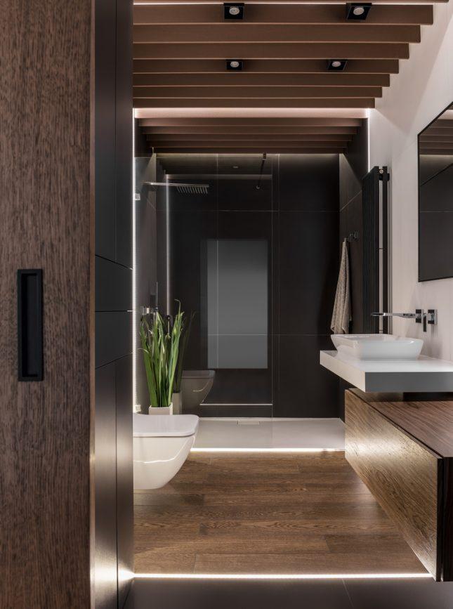 Design badkamers voorbeelden warm led