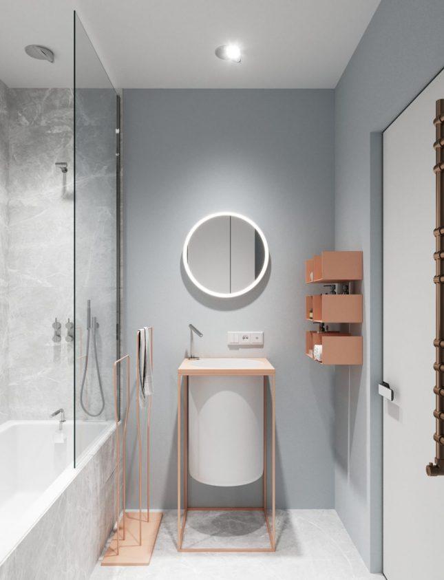 Design badkamers voorbeelden zachte kleuren