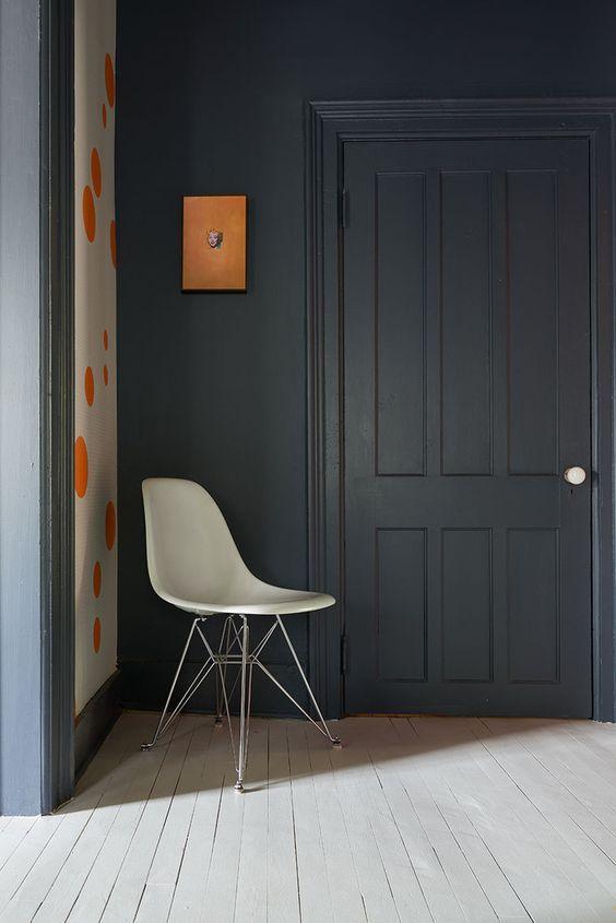 deuren en kozijnen zelfde kleur blauw