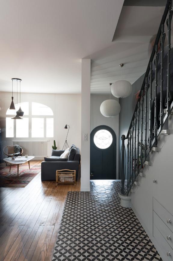 Deze hal is de blikvanger in huis interieur inrichting - Huis interieur deco ...