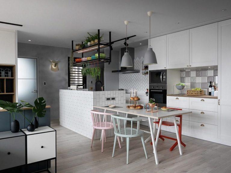 Deze moderne woonkamer is creatief ingericht met twee werkplekken interieur inrichting - Interieur inrichting moderne woonkamer ...