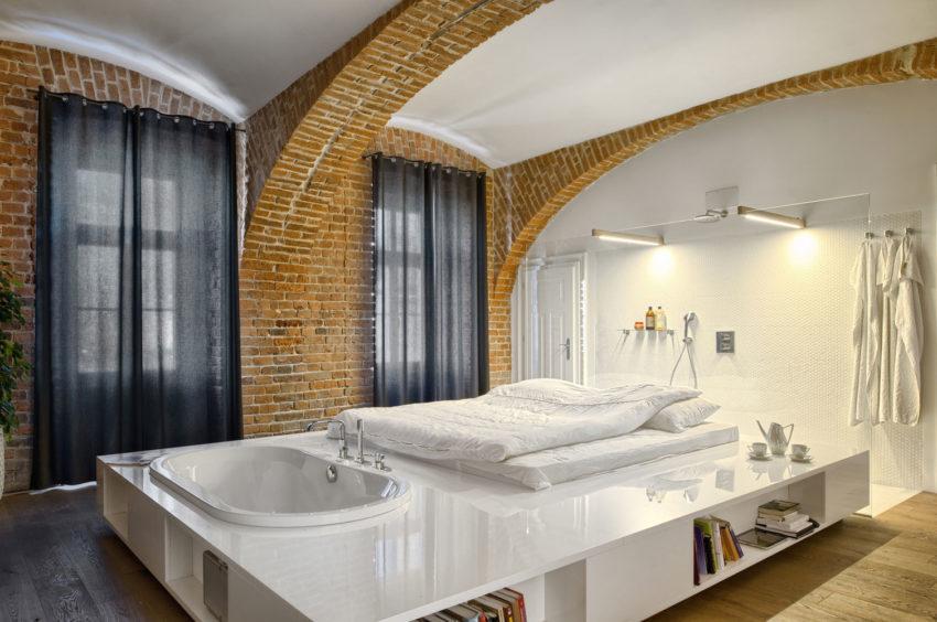 Deze slaapkamer-badkamer-combinatie moet je gezien hebben ...