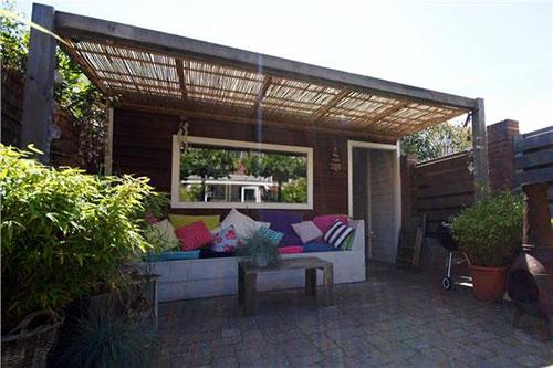 diepe zonnige tuin interieur inrichting