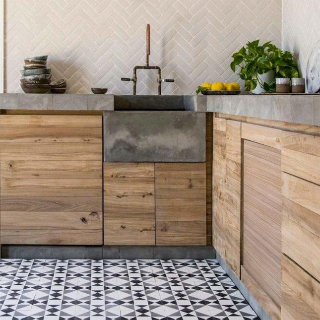 dik betonnen aanrechtblad keuken