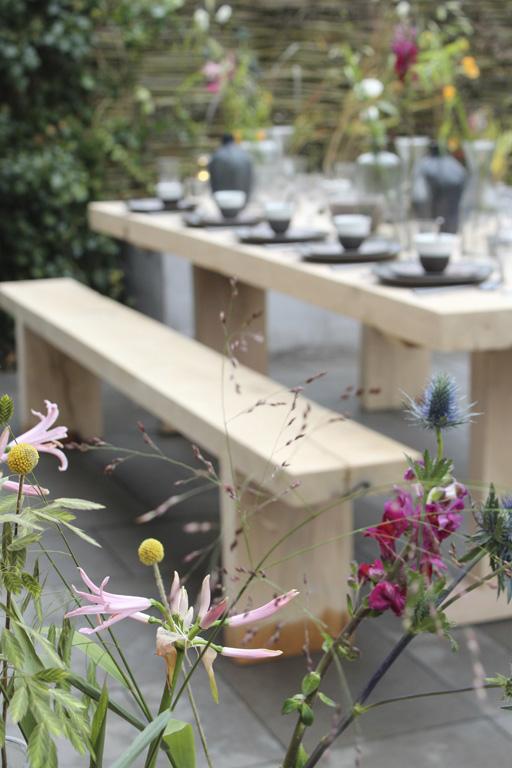 Dineren in de tuin