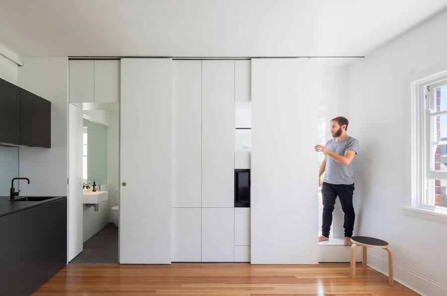 Dit kleine appartement van 27m2 is super slim ingericht interieur inrichting - Van interieur appartement ...