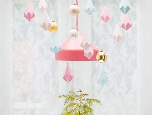 DIY gevouwen kristallen ophangen