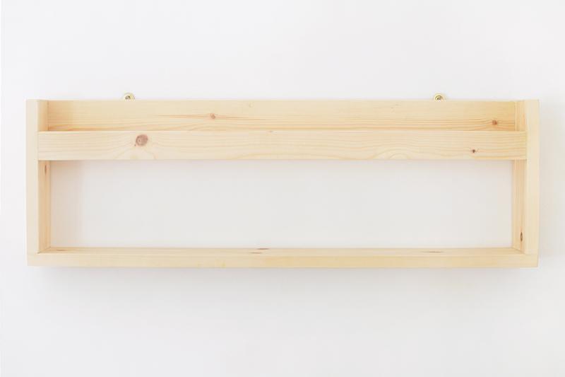 DIY houten tijdschriften wandrek