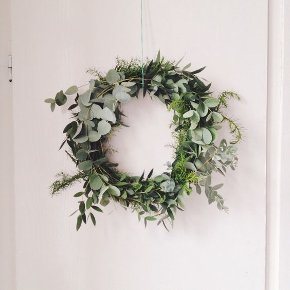 DIY kerstkrans met Eucalyptus