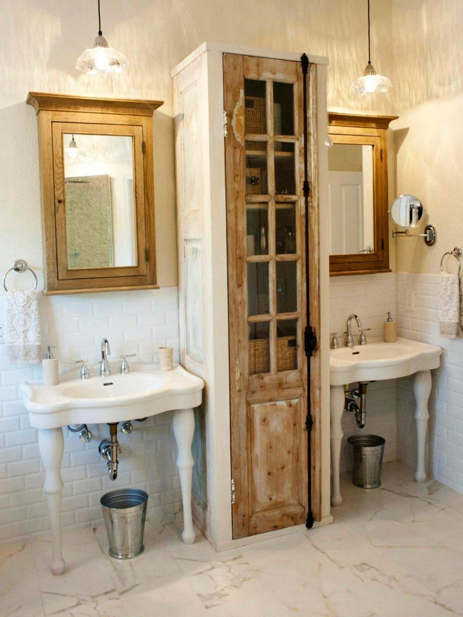 diy vitrinekast maken in badkamer