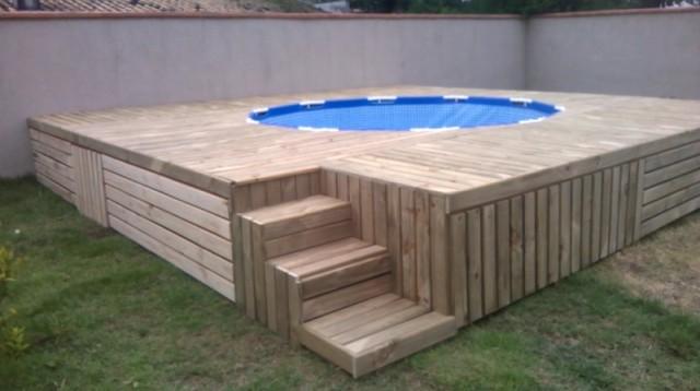 Diy zwembad in de tuin met houten vlonders interieur inrichting