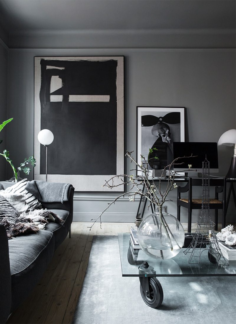 Donker interieur