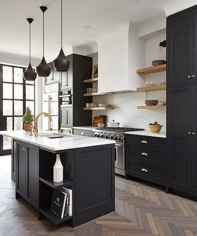 donkere keuken lichte basis