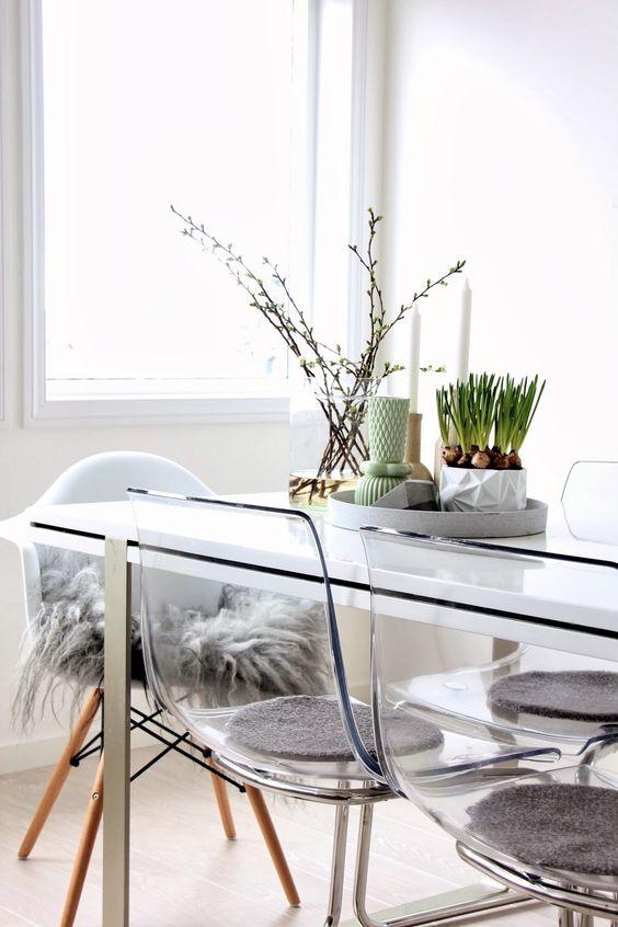 Doorzichtige eetkamerstoelen : Interieur inrichting