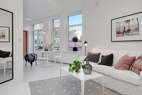 driehoekige woonkamer van 1-kamer appartement | interieur inrichting, Deco ideeën