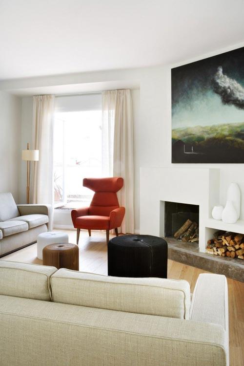 elektrische haard in de woonkamer | interieur inrichting, Deco ideeën