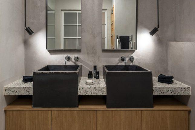 dubbele wastafel badkamer