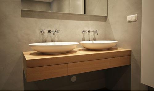 Dubbele wastafel in de badkamer interieur inrichting - Badkamer met wastafel ...