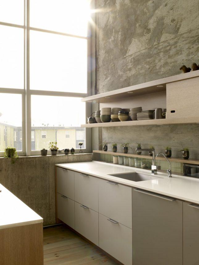 dun wit corian werkblad keuken