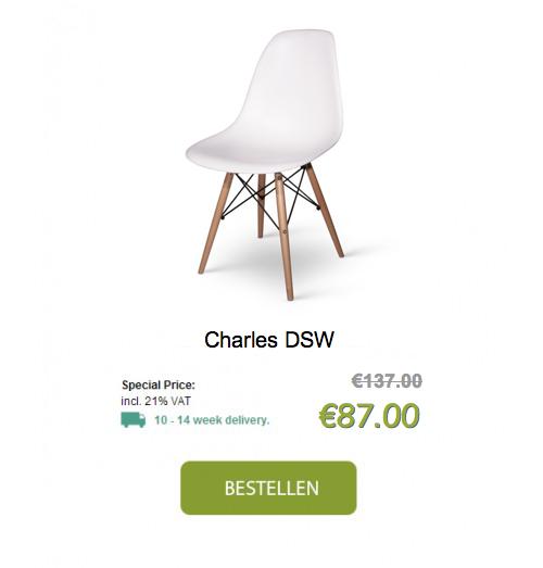 Cheap eames replica with replica design meubels for Replica design meubelen