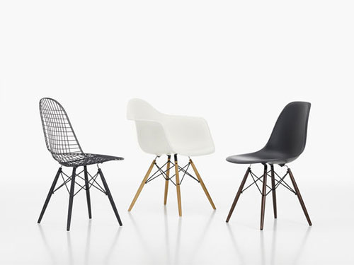 Eames stoel interieur inrichting for Plastic stoel