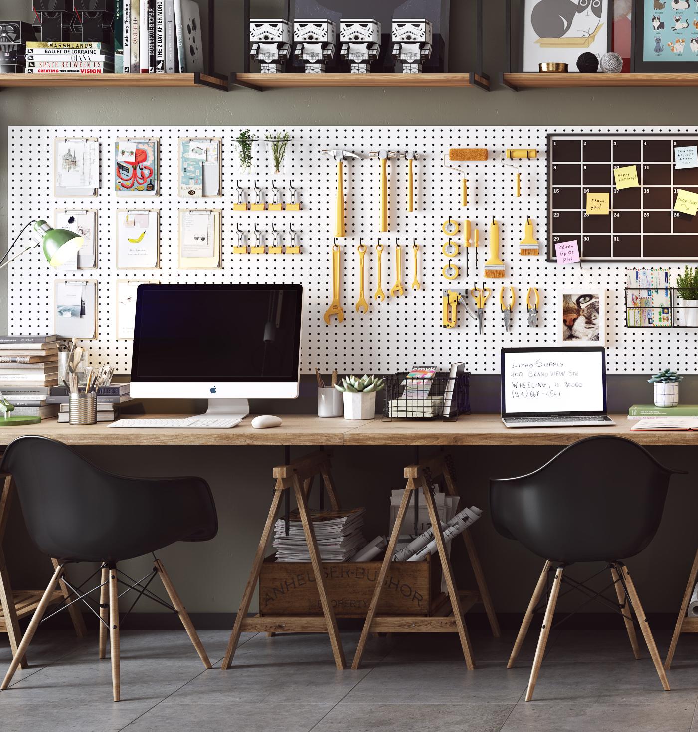 eames-stoelen-werkplek