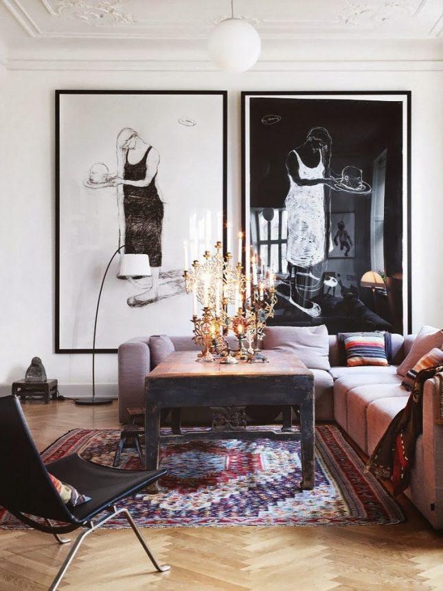 Grote lijsten in huis | Interieur inrichting