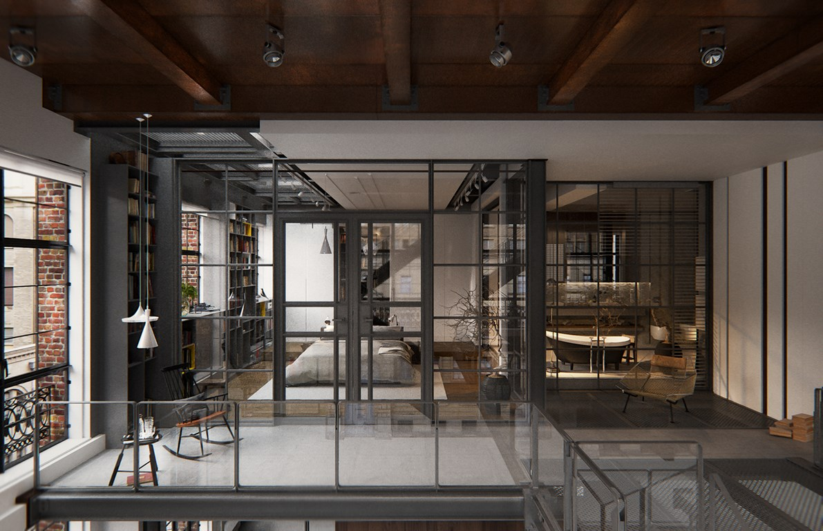 Een chte industri le loft uit new york interieur inrichting for Loft interieur