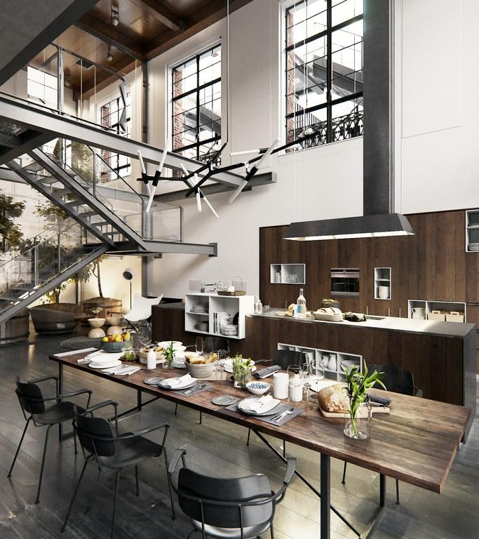 Een chte industri le loft uit new york interieur inrichting for Interieur new york