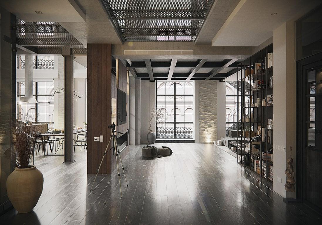 Een échte industriële loft uit New York