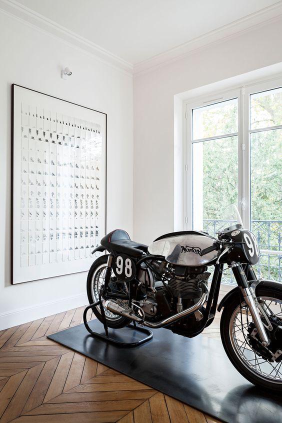 Een motor in huis