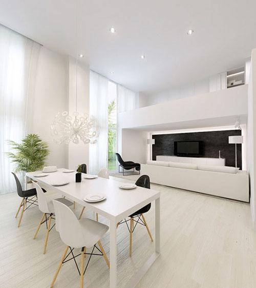 Eettafel in woonkamer   Interieur inrichting